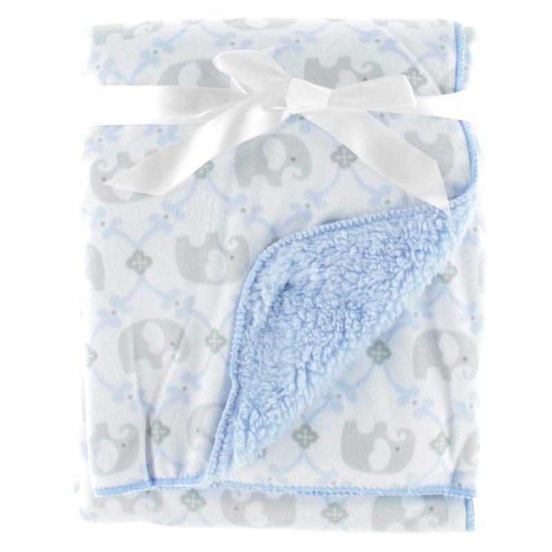 Couverture Éléphant Bleu Gris
