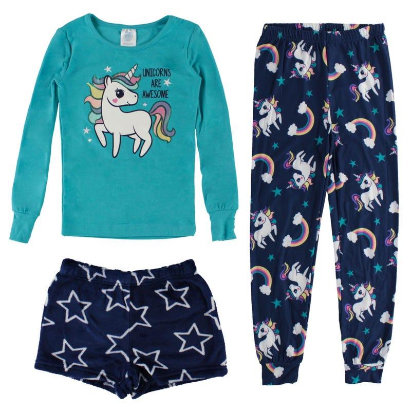 Unicorn 3pcs Pajamas 4-16