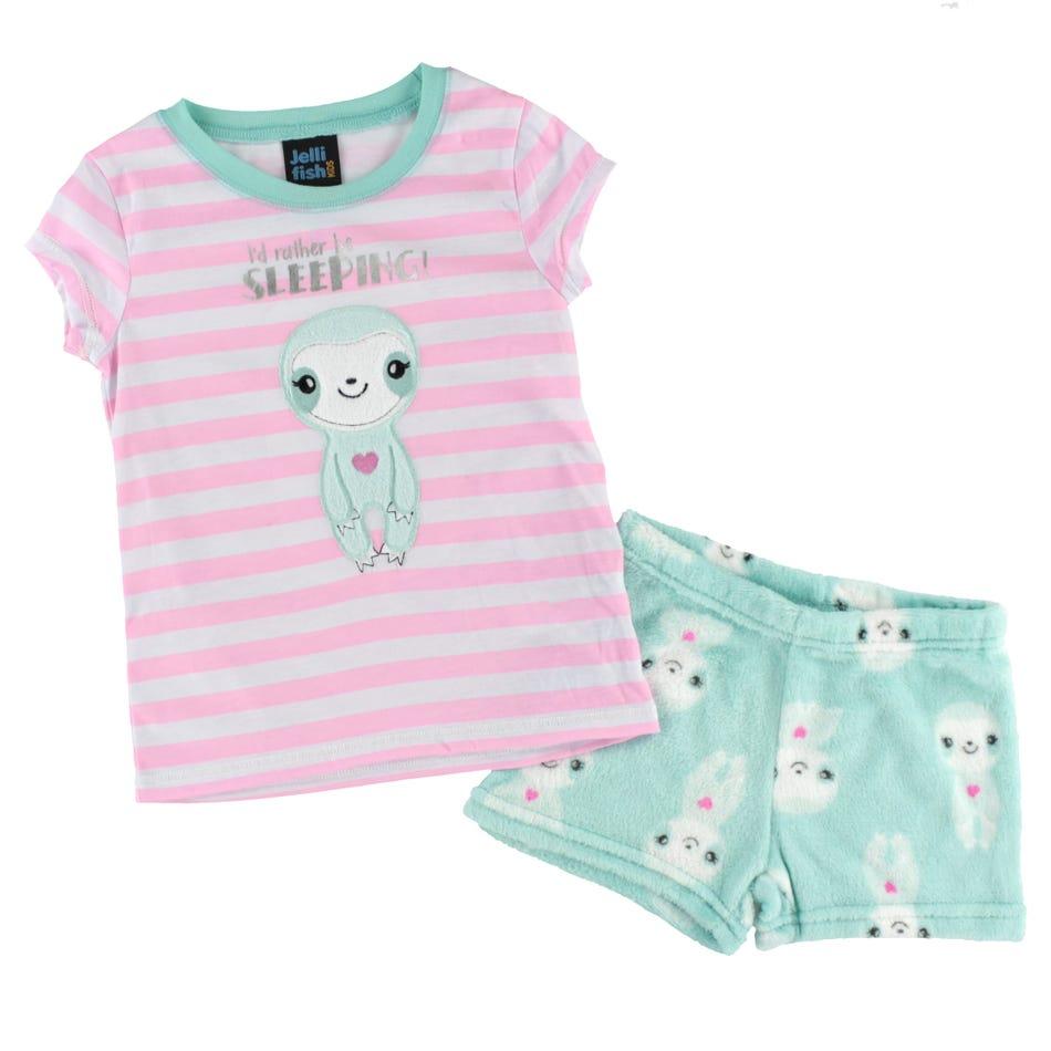 2c9ab7e50f172 Jelli Fish kids Sloth Short Pajama Set 4-16y - Clement