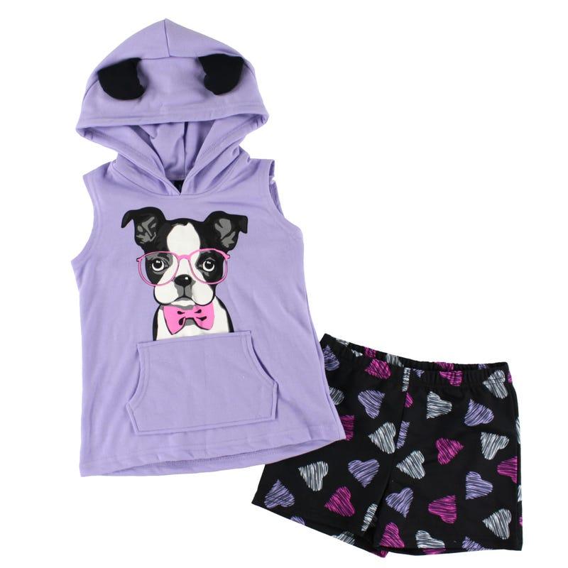 Pyjama Court Capuchon Chien 4-16ans