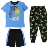 Dino 3pcs Set Pajamas 4-16