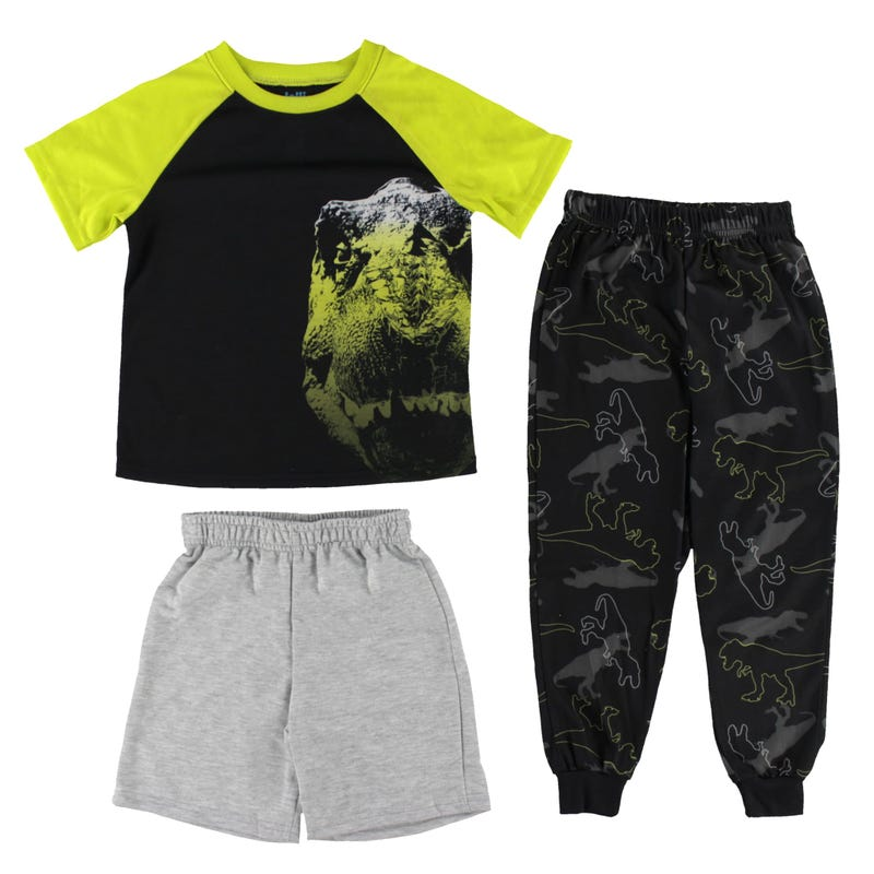 3 Pieces Pajama Pants and Shorts Set 4-16y - Dino