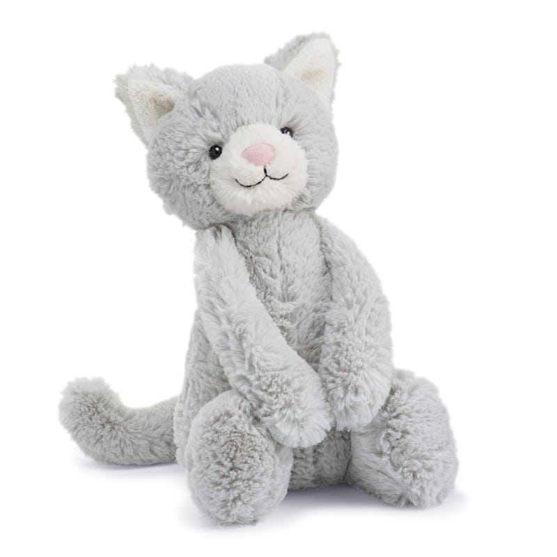 Chat Bashful Gris 12""