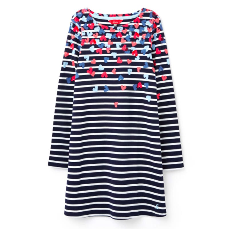Riviera Striped Hearts Dress 3-8y