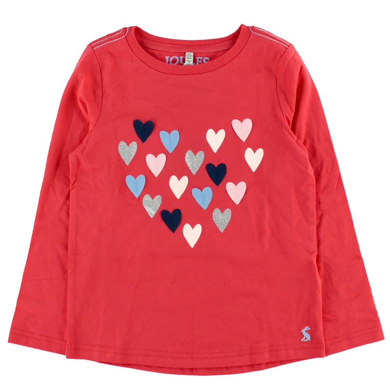 Ava Red Hearts T-Shirt 3-8y