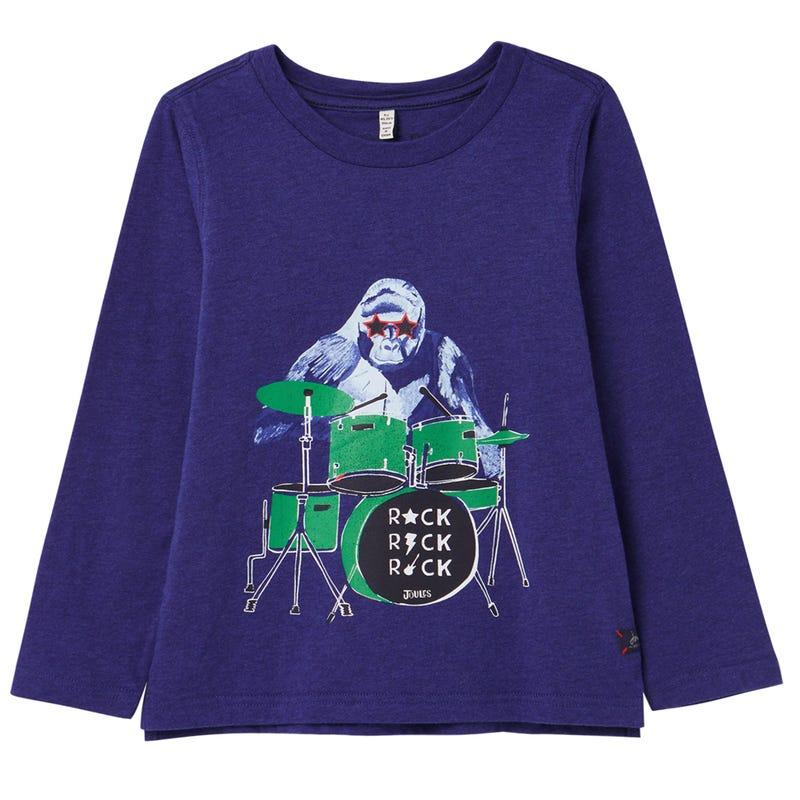 T-shirt Gorille Musique 3-8ans