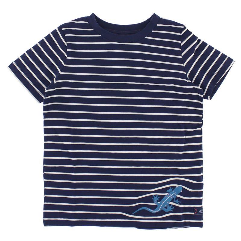 T-shirt Rayé Reptiles 3-8ans
