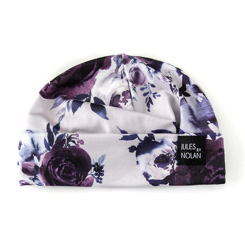 Floral Baby Beanie 0-3m