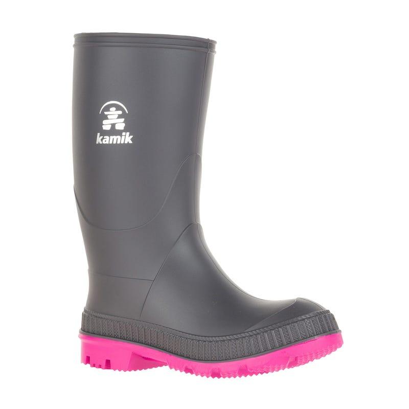 Stomp Rainboots Charcoal Magenta