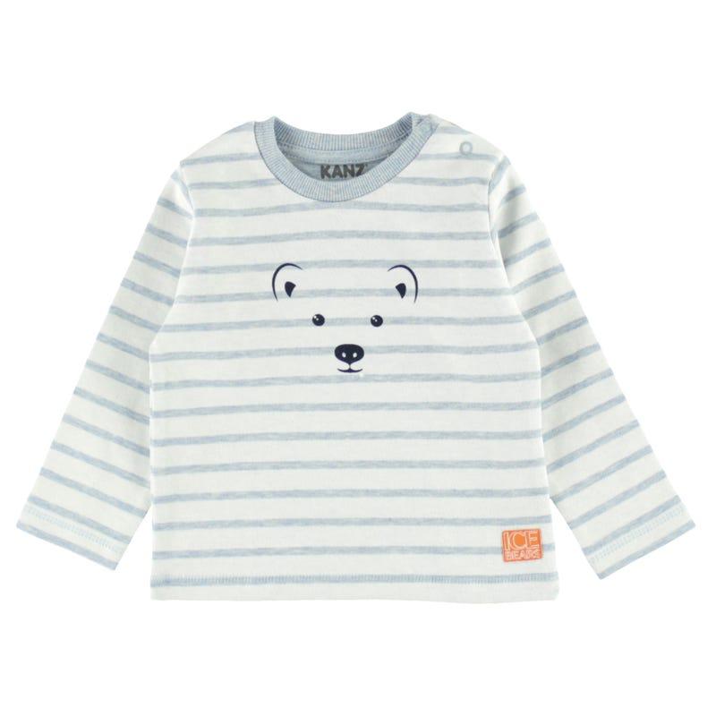 T-Shirt à Manches Longues Ours Polaire 6-18mois