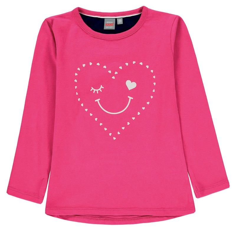 T-Shirt à Manches Longues Coeur 3-8ans