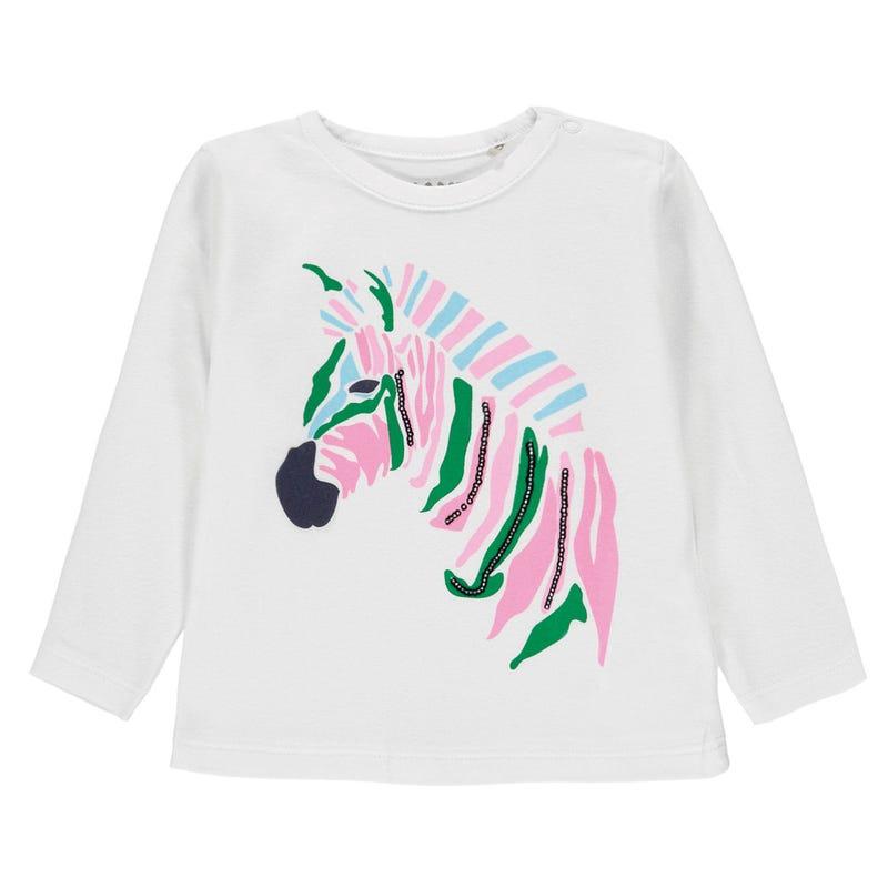 T-shirt Manches Longues Zèbre Jungle 6-18mois