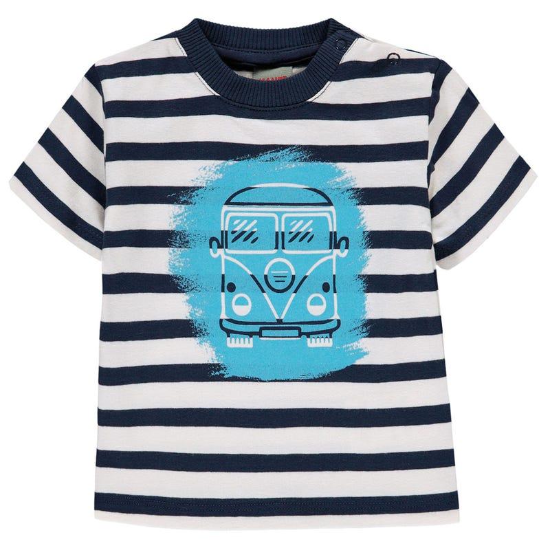 T-shirt Rayé Voyage 6-18mois
