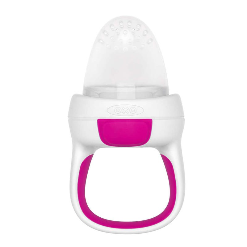 Tétine Grignoteuse Silicone OXO Tot - Blanc/Rose