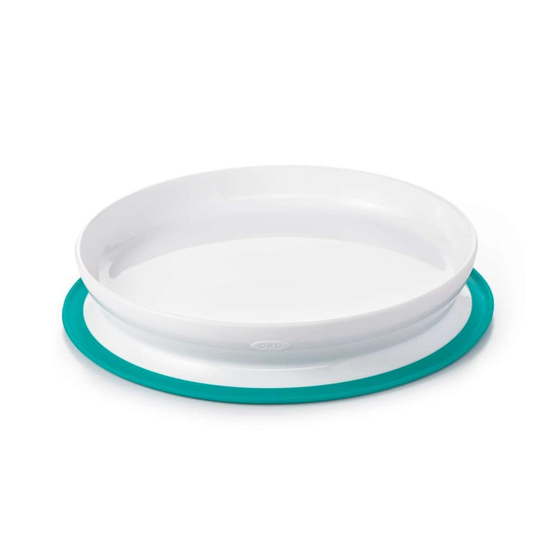 OXO Tot Stick and Stray Suction Plate - Teal