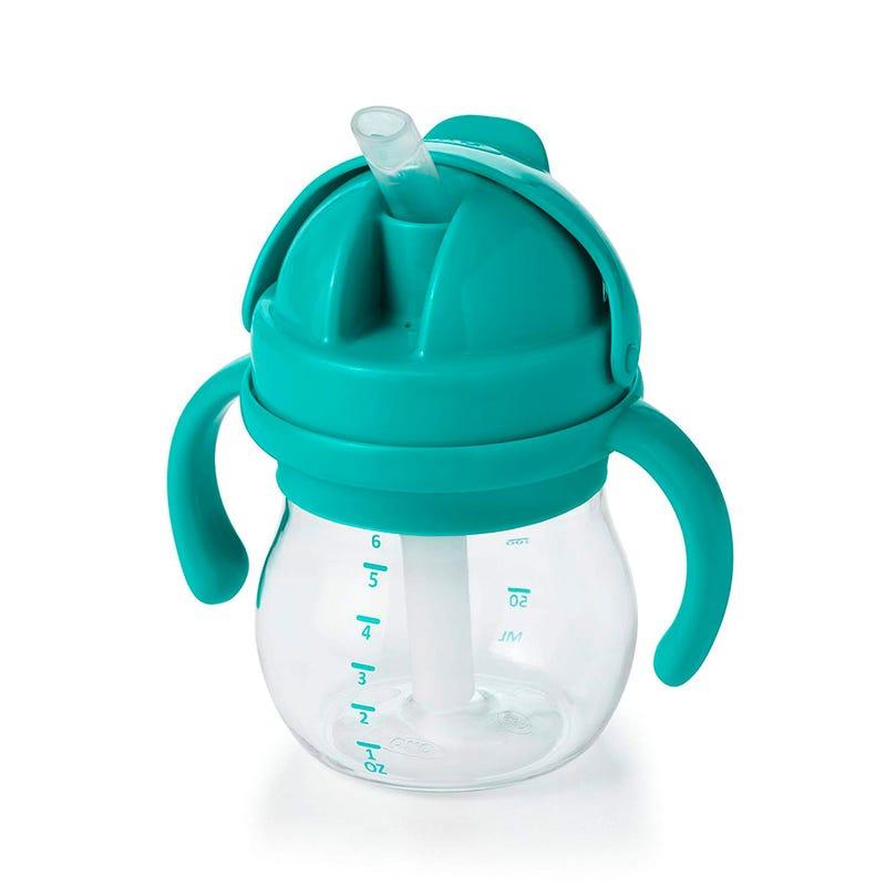 Gobelet Avec Paille 6oz OXO Tot - Turquoise