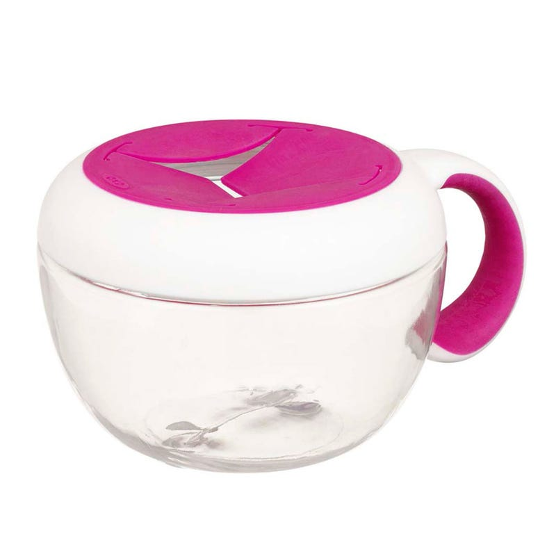 Flippy Snack Cup with Travel Cover- Pink