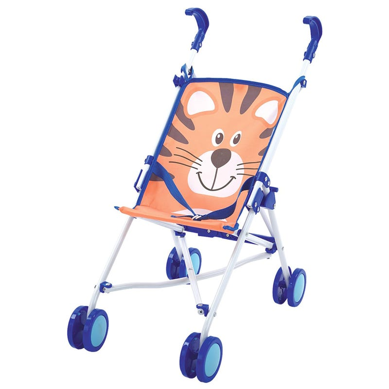 Doll Umbrella Stroller Tiger - Blue