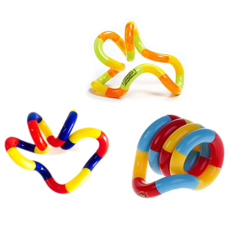 Toy Set of 3 Tangle Multicolor
