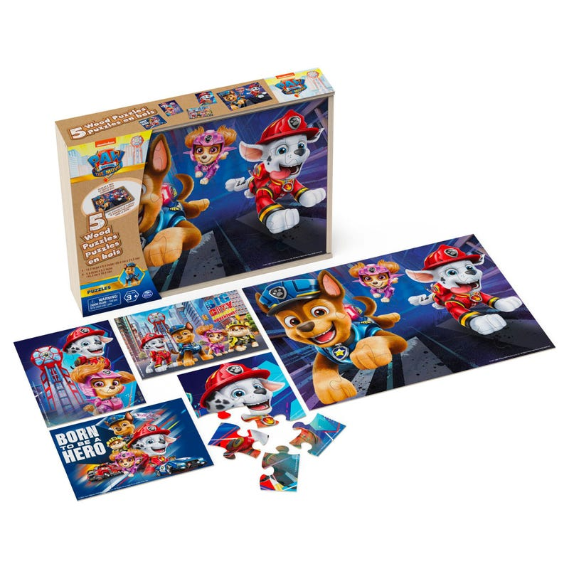 Puzzle Wood 5 in 1 Paw Patrol