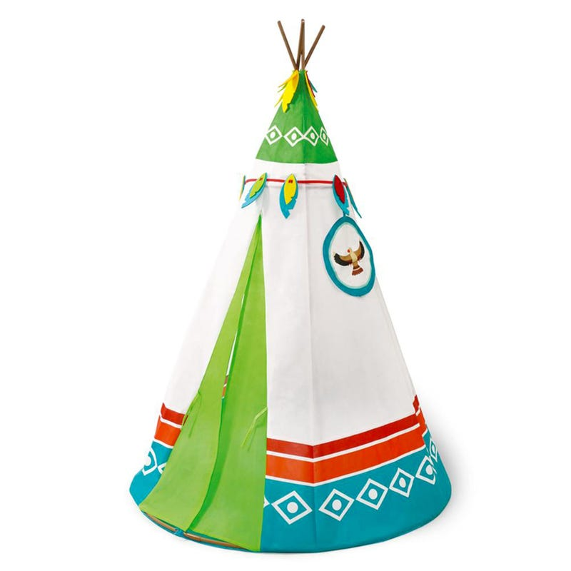 Tipi Tent - Blue/Green