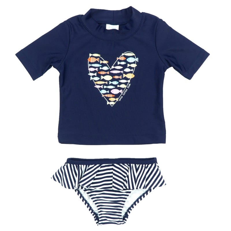 T-Shirt Maillot 2pcs Coeur 12-24
