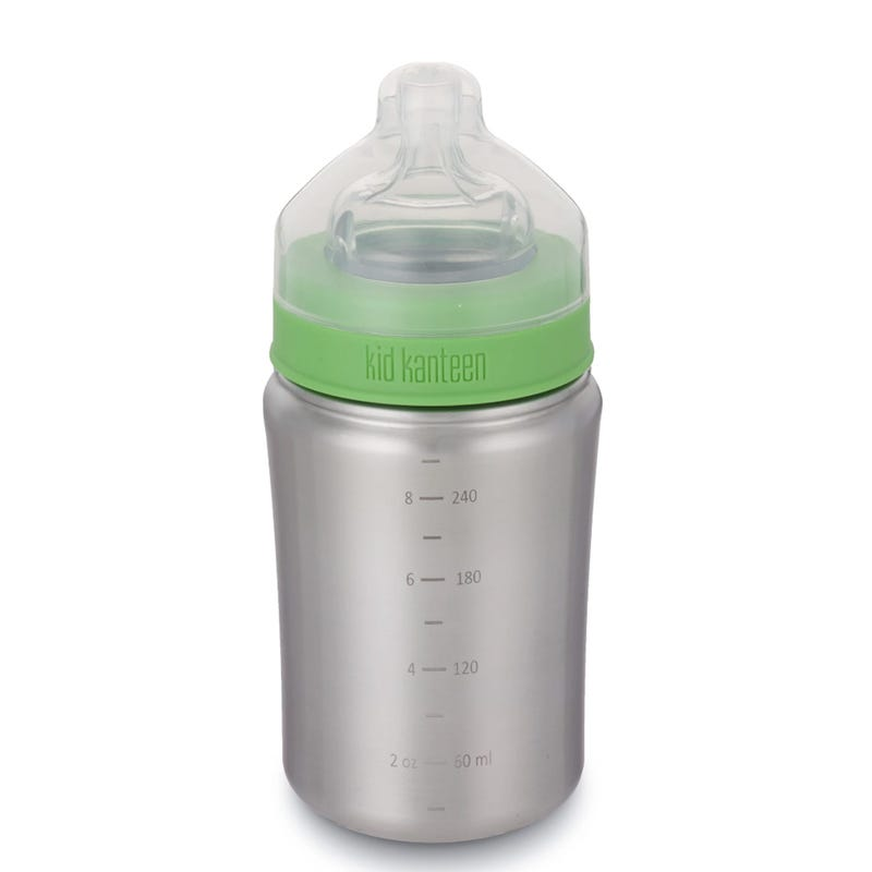 Baby Bottle 9oz - Brushed Stainless