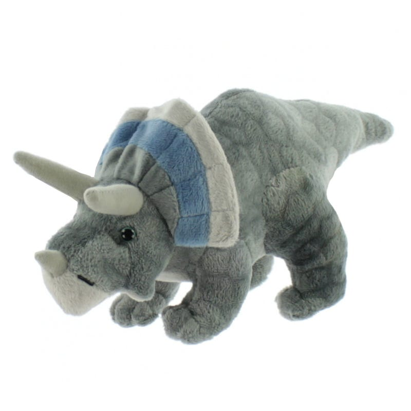 "Triceratops Dinosaur 10"" - Grey"