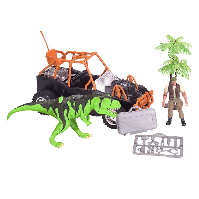 Truck and Dinosaur Toy Set