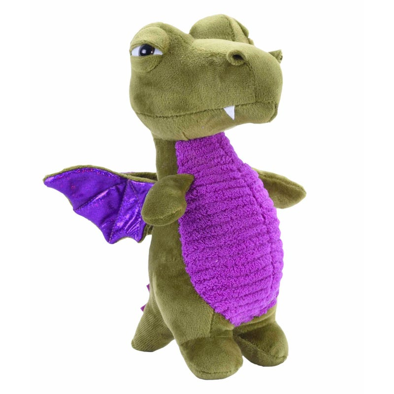 Plush Dragon  - Green/ Purple