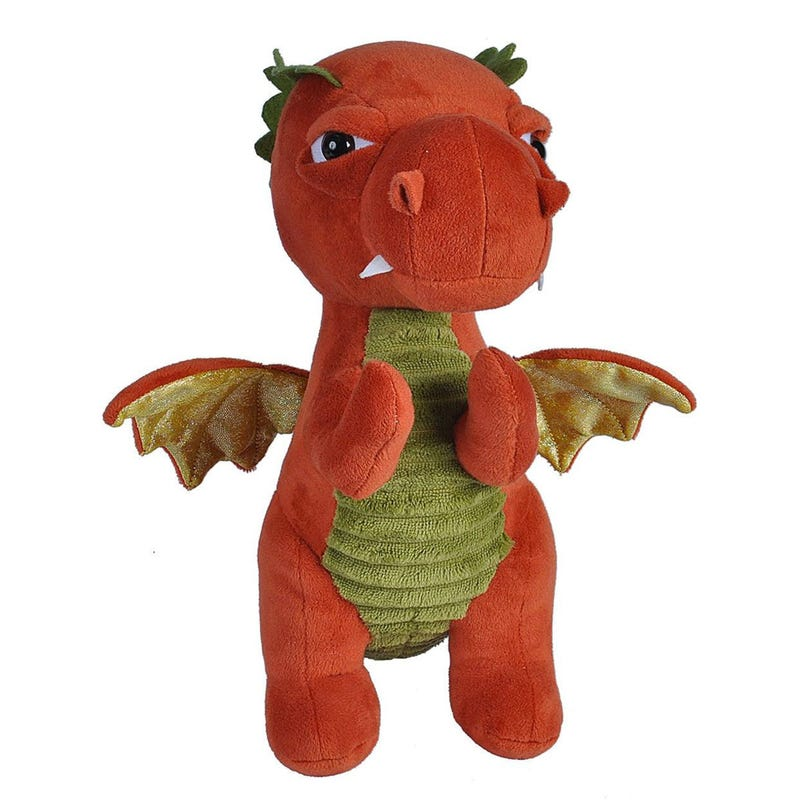 Plush Dragon - Green / Orange