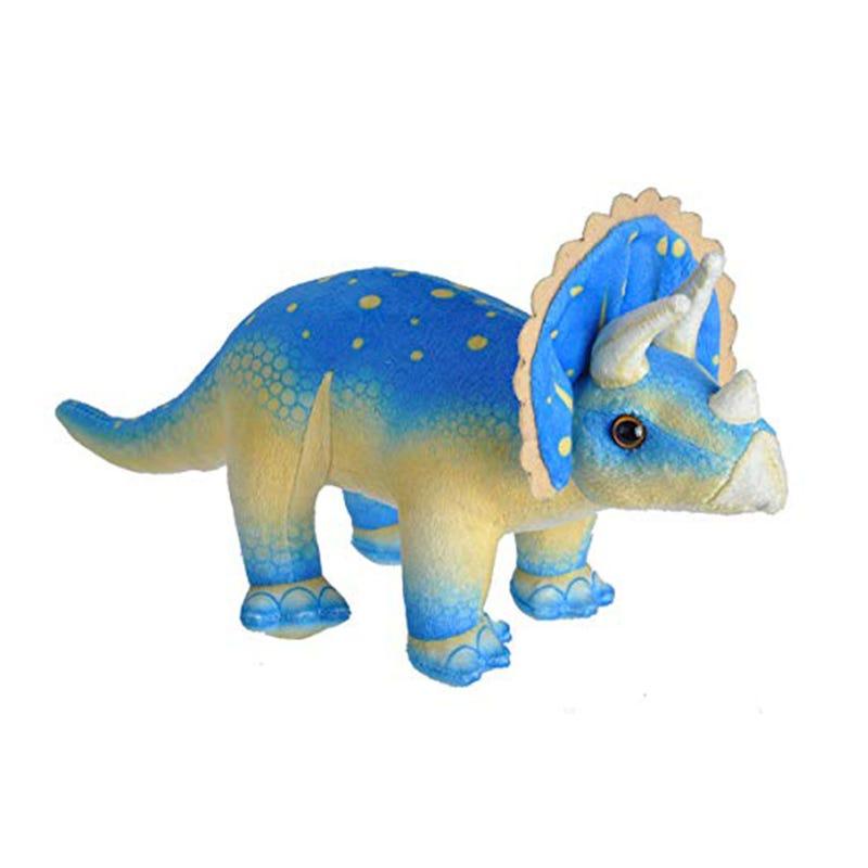 Peluche Dinosaure Tricératops- Bleu