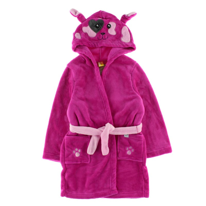 Cozy Animal Robe 2-6y - Loulou The Puppy