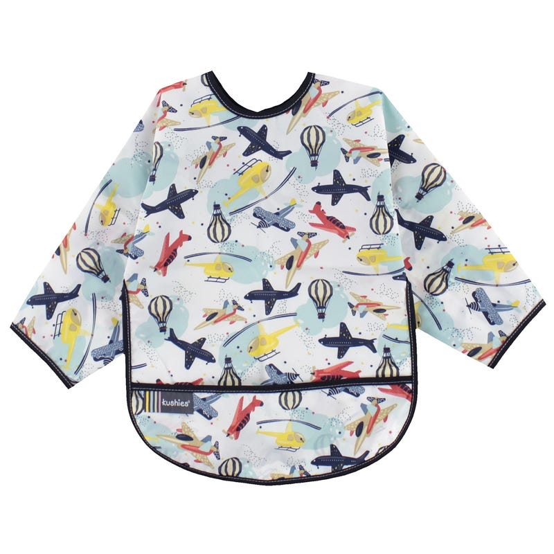 Airplane Long Sleeves Bib 2-4y