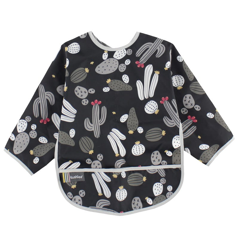 Black Cactus Long Sleeves Bib 2-4y