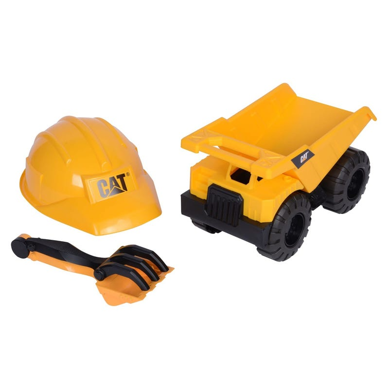 Helmet and Tipper Truck Set - Yellow
