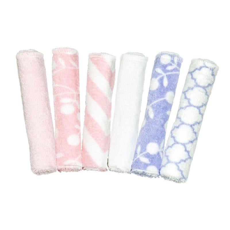 Washcloths set of 6 - Pink/Purple