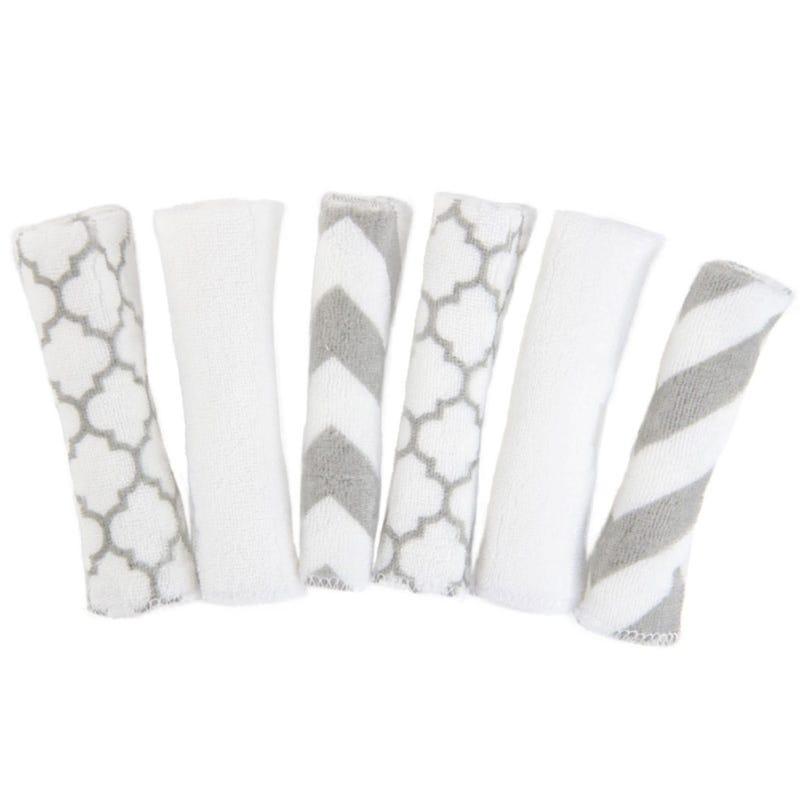 Washcloths set of 6 - Gray