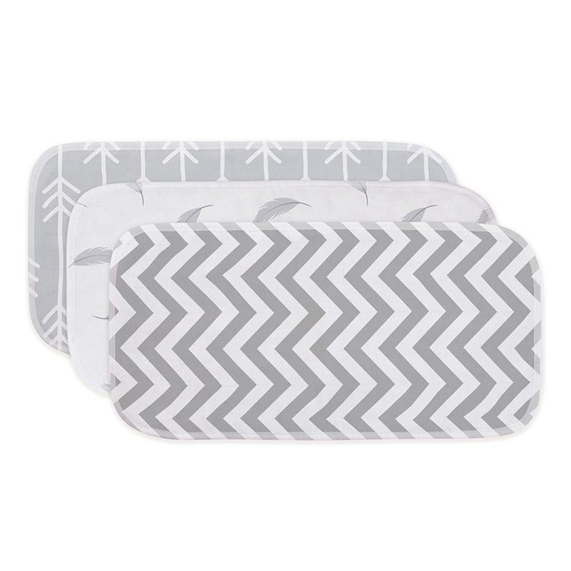 Burp pads (3) - Chevron Grey