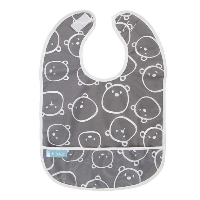 Bib Bear - Gray