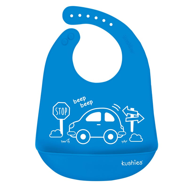 Silicatch Bib Car - Blue