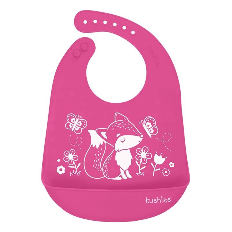 Silicatch Bib Foxy - Pink