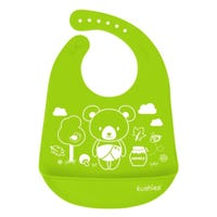 Bavoir Silicone Ours - Vert