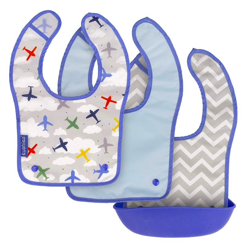 Bibs Silisnap Set of 3 Planes
