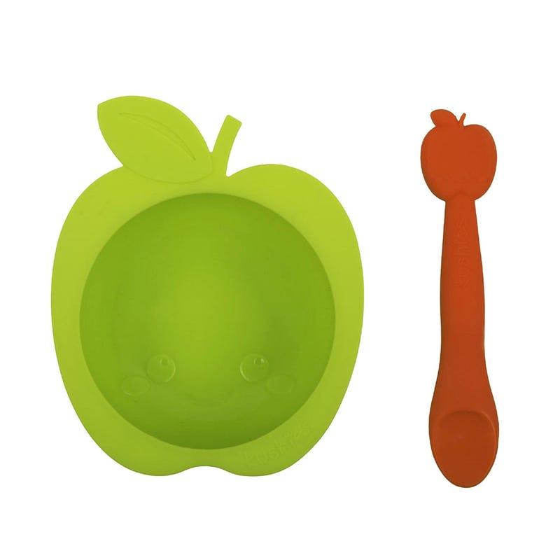 Ensemble Bol et Cuillère Pomme