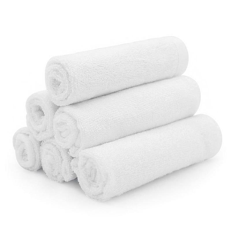 Débarbouillette Bambou Paquet de 6 - Blanc