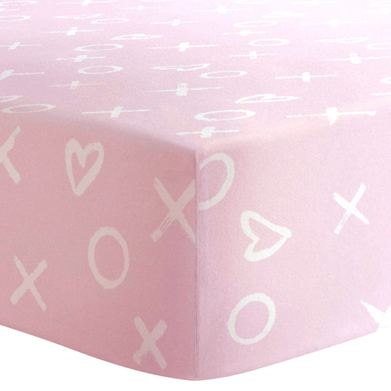 Playpen Sheet  - Pink Xo