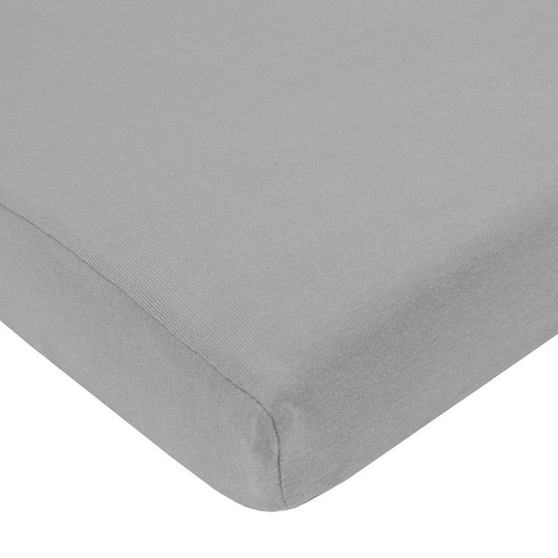 Jersey Crib Sheet - Gray