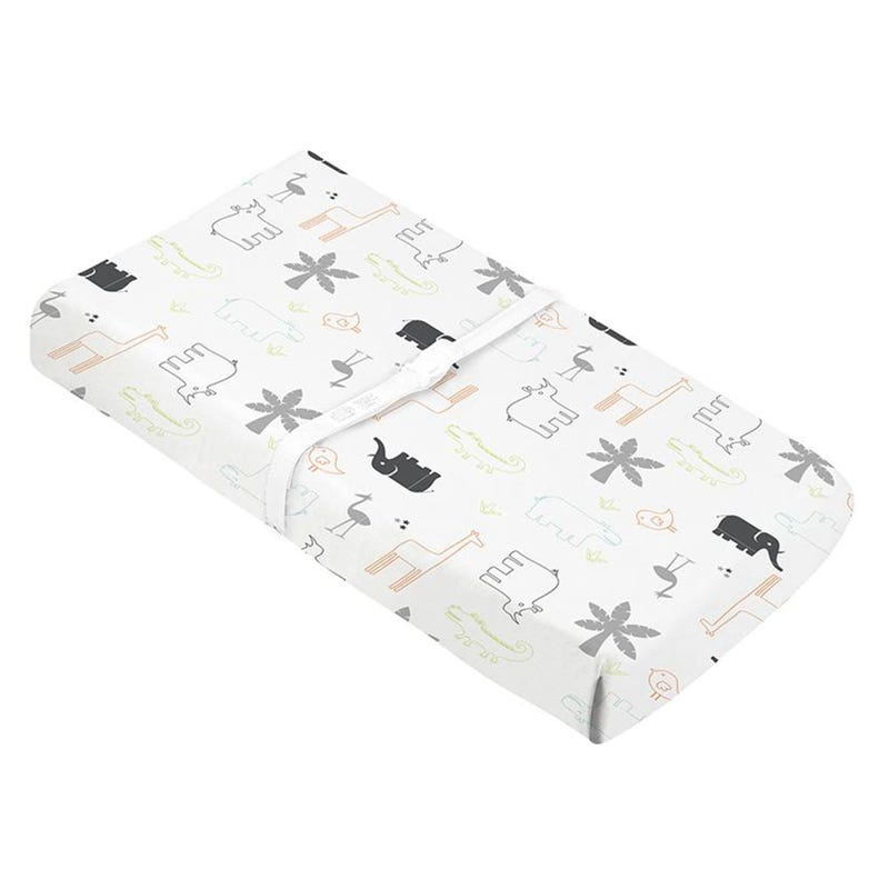 Percale Changing Pad Cover - Jungle Animal