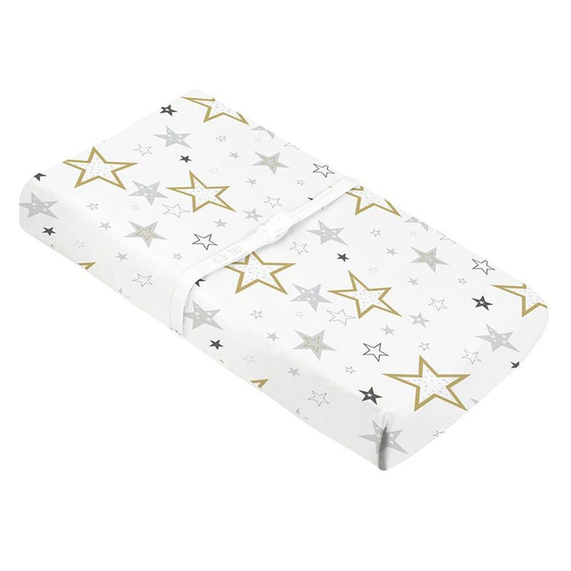 Percale Changing Pad Cover - Golden Stars
